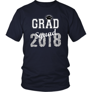 2018 Grad Squad T shirts - Graduation Shirts For Family - Navy