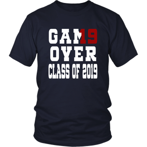 Game Over - Graduation Shirts - Navy