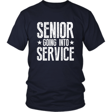 Load image into Gallery viewer, Senior Going Into Service - Class of 2019 T-shirt - Navy