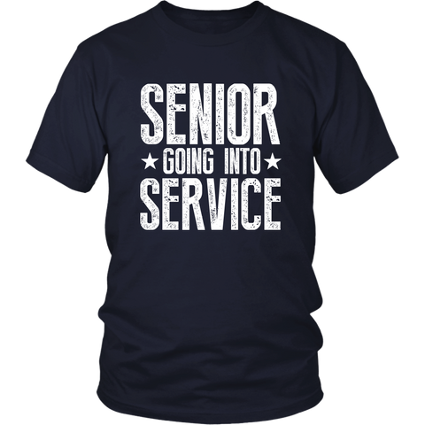 Senior Going Into Service - Class of 2019 T-shirt - Navy