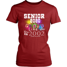 Load image into Gallery viewer, Party Like 02 - Class Of 2020 T-shirt Ideas
