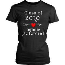 Load image into Gallery viewer, Infinite Potential Shirt - Senior Class of 2019 Slogans - Black