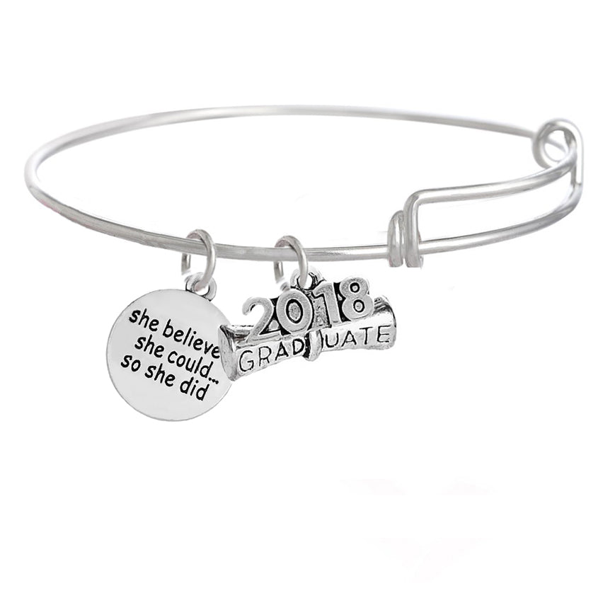 Graduation quote bracelet class of 2018