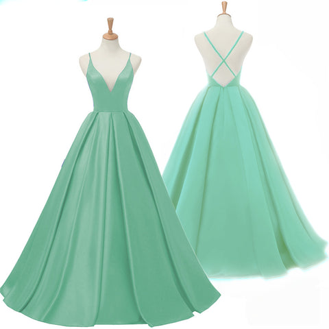 Green Long Prom Dress