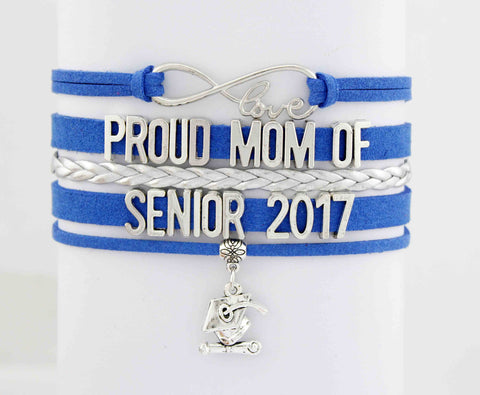 Infinity Love Mom of Senior 2017 Bracelet - My Class Shop