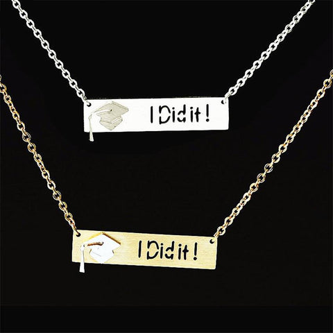 Graduation Necklace - I Did It - My Class Shop