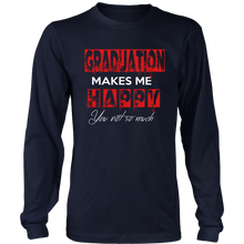 Load image into Gallery viewer, Graduation Makes Me Happy - Class of 2019 Graduation Shirts - Navy