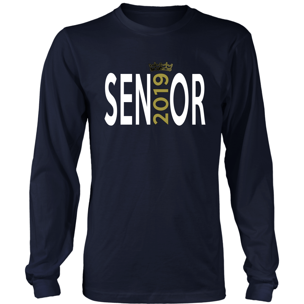 Class of 2019 t-shirt slogans - Sen19r - Navy