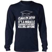 Load image into Gallery viewer, It's A Miracle - Senior Class Of 2019 Shirts - Navy