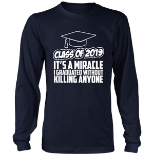 It's A Miracle - Senior Class Of 2019 Shirts - Navy