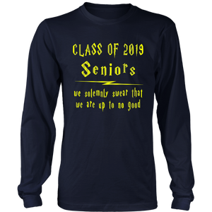 We Solemnly Swear - Senior 2019 Shirt - Navy