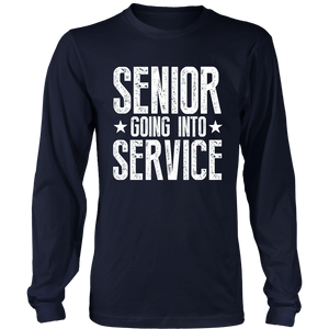 Senior Going Into Service - Senior 2019 Shirts - Navy