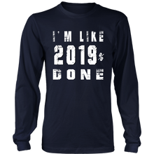 Load image into Gallery viewer, Class of 2019 T-shirts - 2019% Done-Navy