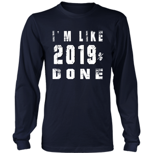 Class of 2019 T-shirts - 2019% Done-Navy