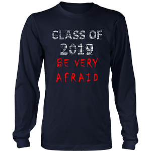 Class of 2019 t-shirts with slogans - navy