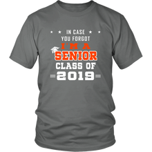 Load image into Gallery viewer, I'm A Senior - Class of 2019 Slogan - Grey