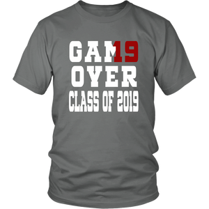 Game Over - Graduation Shirts - Grey