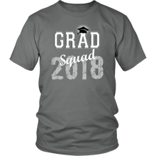 Load image into Gallery viewer, 2018 Grad Squad T shirts - Graduation Shirts For Family - Grey