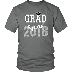 2018 Grad Squad T shirts - Graduation Shirts For Family - Grey