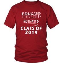 Load image into Gallery viewer, Class of 2019 t shirt slogans - Sen19rs shirt - Red