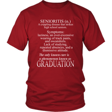 Load image into Gallery viewer, Senioritis - Class of 2019 T shirts - Red