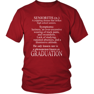 Senioritis - Class of 2019 T shirts - Red