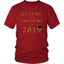 Load image into Gallery viewer, Queens Are Graduating In 2019 - Senior 2019 Shirt - Red