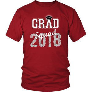 2018 Grad Squad T shirts - Graduation Shirts For Family - Red