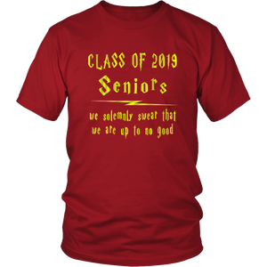 We Solemnly Swear - Class of 2019 T shirts - Red