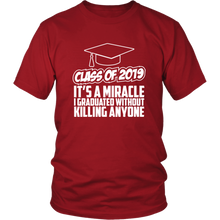 Load image into Gallery viewer, It's A Miracle - Class Of 2019 Shirts Ideas - Red