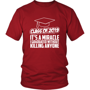 It's A Miracle - Class Of 2019 Shirts Ideas - Red