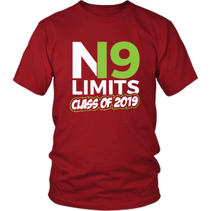 No Limits - Class of 2019 Senior Shirts - Red