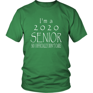 Officially Don't Care - Senior 2020 Shirts