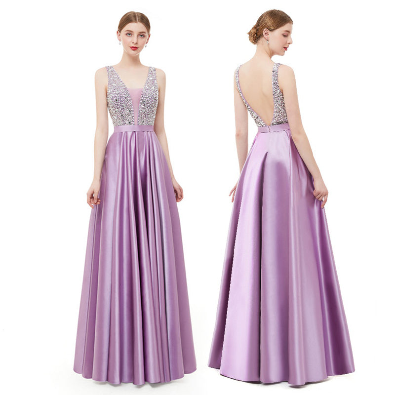 Lavender Long Prom Dress 2019