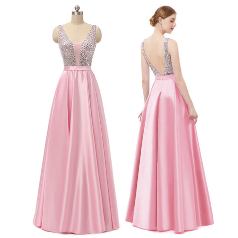 Light Pink Long Prom Dress 2019