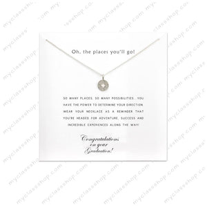 Oh the places you'll go - Graduation Gifts 2018 silver plated