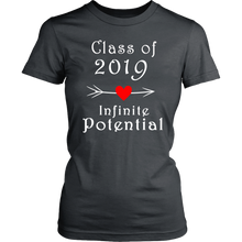 Load image into Gallery viewer, Infinite Potential Shirt - Senior Class of 2019 Slogans - Charcoal