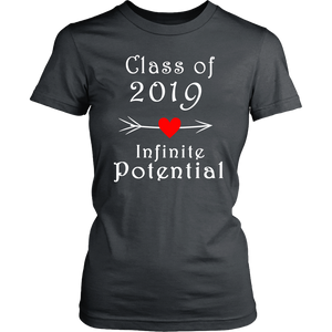 Infinite Potential Shirt - Senior Class of 2019 Slogans - Charcoal