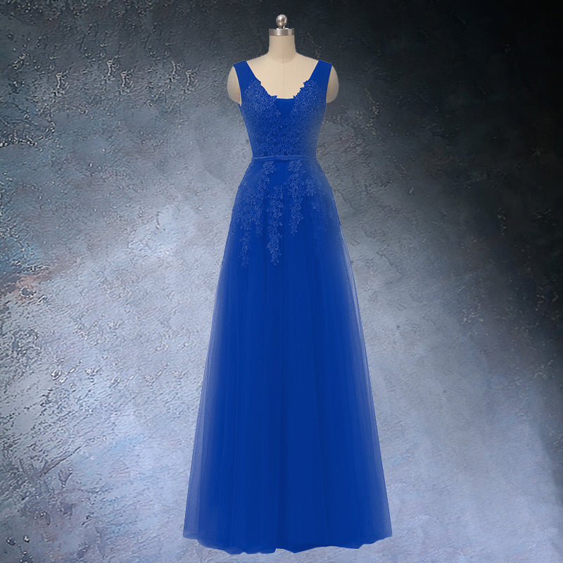 Royal Blue A-line Prom dress