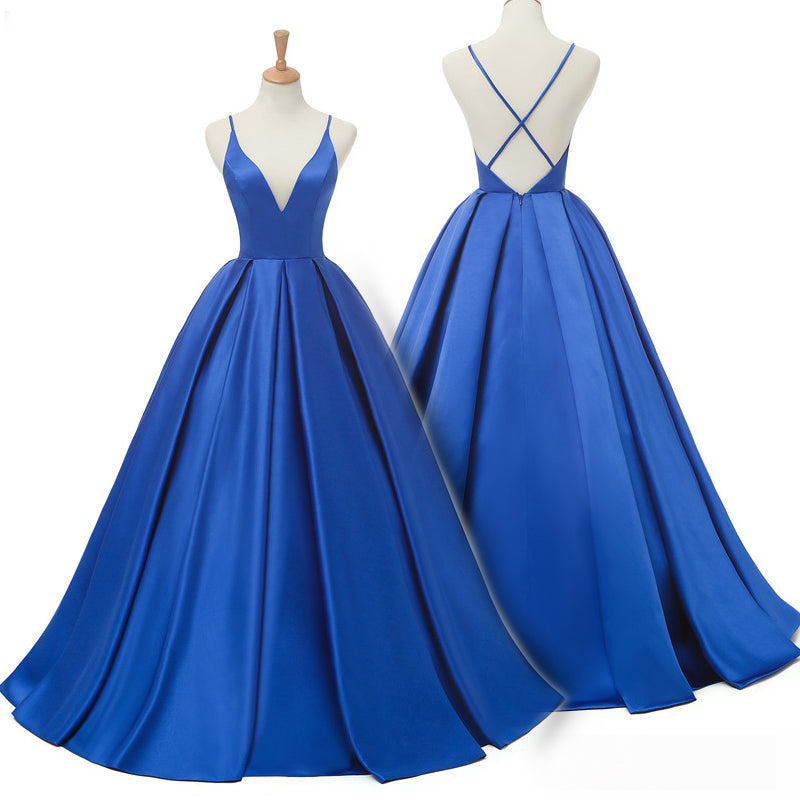 Royal Blue Long Prom Dress
