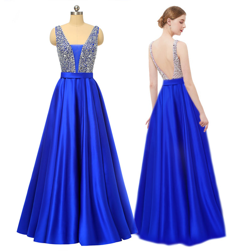 b3ffdc2f52 ... My Class Shop. Royal Blue Long Prom Dress 2019