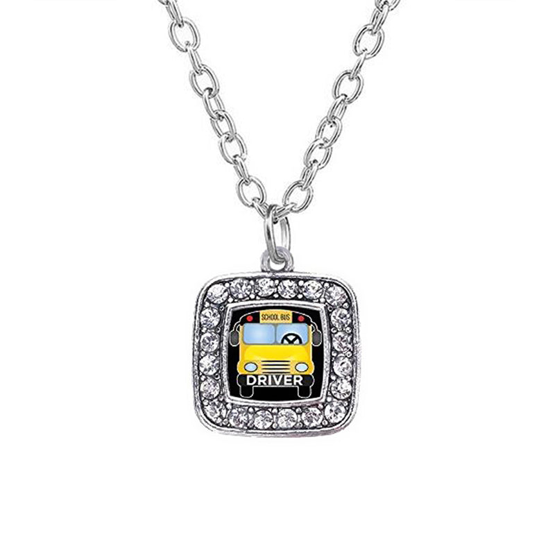 Graduation school bus necklace 2018