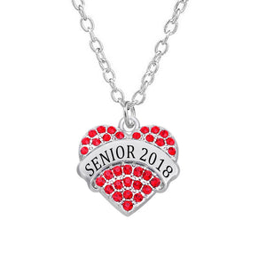 Senior 2018 heart-shaped necklace for her