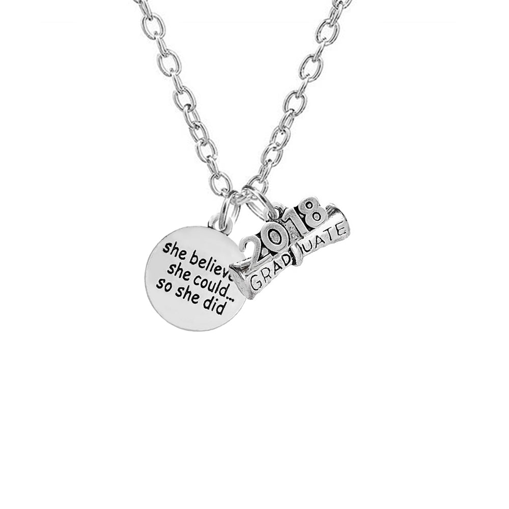 Slogan necklace class of 2018 collection