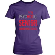 Load image into Gallery viewer, The Psychotic Senior - Funny Class of 2019 Shirts - Purple