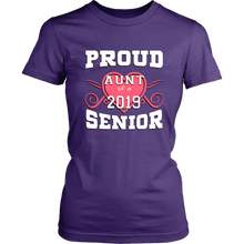 Load image into Gallery viewer, Proud Aunt Of A 2019 Senior - Beautiful Graduation Shirt For Family