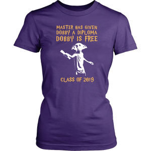 Dobby Is Free - Senior Class of 2019 Shirts - Purple