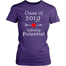 Load image into Gallery viewer, Infinite Potential Shirt - Senior Class of 2019 Slogans - Purple