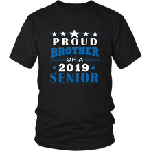Load image into Gallery viewer, Proud Brother Of A 2019 Senior - Ideas For Family Shirts