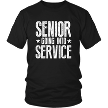 Load image into Gallery viewer, Senior Going Into Service - Class of 2019 T-shirt - Black